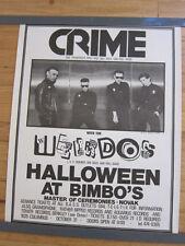 CRIME Weirdos Bimbo's San Francisco original Concert poster 17.5x23 KBD