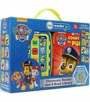 NEW Nickelodeon PAW Patrol Electronic Me Reader & 8 Books Library Collection Set
