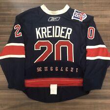 Reebok Edge Authentic New York Rangers Chris Kreider NHL Jersey Heritage 85th 52