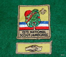 VINTAGE  BOY SCOUT 1973 JAMBOREE PARTICIPANT'S POCKET PATCH WITH SEGMENT