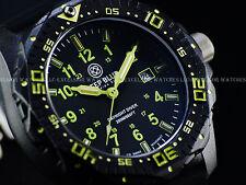 New Deep Blue 46mm DayNight Swiss Quartz Tritium Dial Sapphire Black CFRP Watch