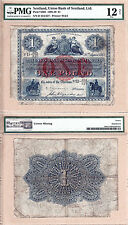 Scarce 1913 £1 The Union Bank of Scotland Issued note. PMG Certified Fine 12