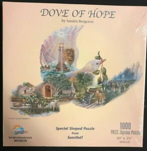 Dove of Hope 1,000 Piece Special Shaped Jigsaw Puzzle by Sandra Bergeron - NEW