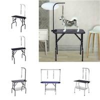 "32""36""48"" Dog Cat Pet Grooming Table Portable Folding Adjustable Noose Arm Tray"