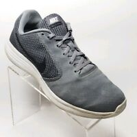 6e726368928 Nike Revolution 3 Mens Sz 10.5 Running Walking Athletic Sneakers Shoes Gray   W3