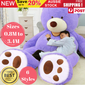 Baby Kids Giant Teddy Bear Huge Stuffed Plush Toy Soft Big Cuddly Large Gift AU