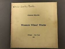 """1894 Crescent Bicycle Catalouge Western Wheel Works 7"""" X 7"""""""