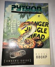PYTHON AUTO SECURITY ALARM SYSTEM MODEL 880XP OWNERS MANUAL OWNER'S GUIDE OEM