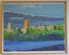David K. Gordon Listed New York City NY USA Original Cityscape Painting River