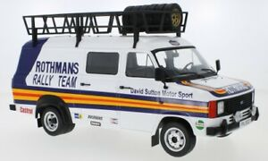 FORD TRANSIT MK.2 Rothmans Rally Team Van roof accessories 1:18th IXO 18RMC057XE