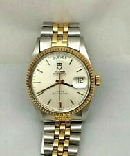 ROLEX Tudor Oyster Prince Day Date Steel/18k Men's 35mm Watch / ENGLISH