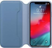 Genuine / Original iPhone XS Leather Folio Case Cover - Cornflower Blue - New