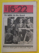 EMMY AWARDS SHOW Bergen County Record NJ TV Week guide May 16 1976 M.A.S.H.