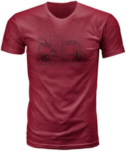 Fly Racing 2020 Fly Street Variety Tee Adult T-Shirt Burgundy All Sizes