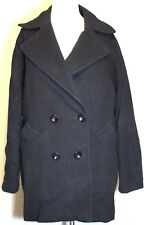NWOT Trina Turk Black Wool Nylon Cashmere LS Fully-Lined Coat 14