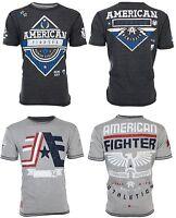 AMERICAN FIGHTER Mens REVERSIBLE T-Shirt CORNERSTONE Athletic Biker Gym $50