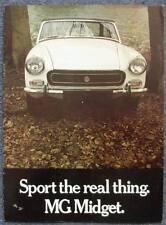 MG MIDGET Sports Convertible Car Sales Brochure c1971 #2723