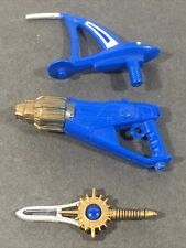 Power Rangers Wild Force Blue Ranger Gun Blaster Sword Weapon Accessory lot