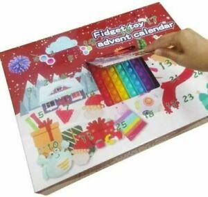 Fidget Advent Calendar Toy Christmas Toys Xmas Pop Simple Dimple Toy Gift Set UK