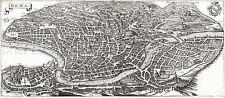 MAP ANTIQUE MERIAN 1642 ROME PANORAMA HISTORIC LARGE REPRO POSTER PRINT PAM1063