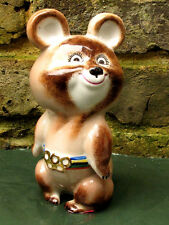 Jeux Olympiques de Moscou 1980 Talisman Olympic bear Grand Porcelaine Sculpture.