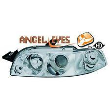 Par Faros Delanteros Tuning FIAT PUNTO 1993-99 cromados anillos OJOS DE ANGEL