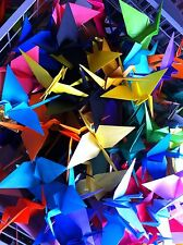 50 Origami Cranes - Assorted Colours. Wedding, Party, Home, Decoration.