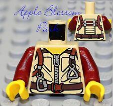 NEW Lego TAN MINIFIG TORSO Shirt/Jacket Parachute Vest -Army/Safari/Dino/Soldier