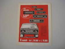 advertising Pubblicità 1968 AUTORADIO GRUNDIG
