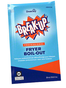 NEW Diversey Break-Up Professional Fryer Broil-Out 991209 Case / 36 Packs