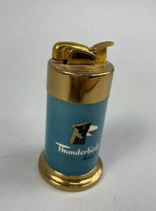 Rare Vtg Old Las Vegas Thunderbird Casino Table Lighter
