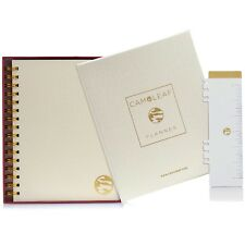 Undated Daily Planner, Monthly & Weekly, Academic Hardcover Agenda Calendar