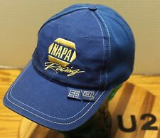 "BLUE NAPA RACING #56 ""NAPA KNOW HOW"" HAT ADJUSTABLE GOOD CONDITION   U2"