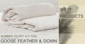 Luxury Goose Feather And Down 4.5 Tog Duvet / Quilt 100% Cotton Cover