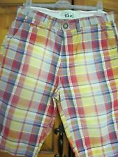 "Men's Cotton Checked Knee Length Shorts NEXT Size 30"" Waist - IMMACULATE"
