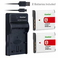 SLIM 1 USB Charger & Battery for Sony NP-BG1 FG1 Type G Cybershot DSC-HX5V W220