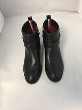 Tommy Hilfiger Womens Fashion Zip Up Ankle Boots 8.5 M Black