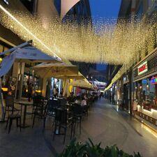 220V Christmas Fairy Icicle Curtain Light LED String Home Festival Decoration