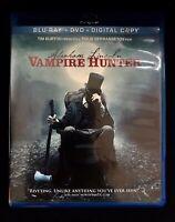 Tim Burton's Abraham Lincoln Vampire Hunter Movie (Bluray, 2012) + DVD & Digital