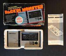 Packri Monster Bandai Tabletop Arcade Game Handheld with Box & Manual - TESTED