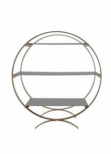Round 3 tier Gold Cake Stand with Metal Shelves