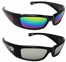 ecc33d5fa4 Kids Sports Sunglasses Flame Arm Mirror Spectrum Dark Lens Boys Girls  Leisure