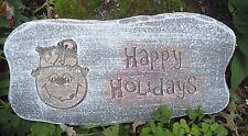"""Snowman Christmas plaster concrete mould 11""""x 5.5"""" x .75"""" thick"""
