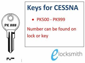Suits Cessna Lock Key to Code Number  FREE POST - PK500-PK999