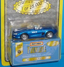 1997 MATCHBOX Premiere Ford Mustang Mach III Concept Real Riders 1 of 25,000 S12