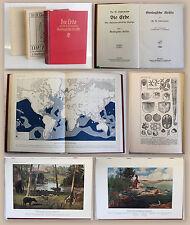 Lindemann Die Erde BD 1 Geologische Kräfte 1912 Geologie Erdkunde mit Orig. SU