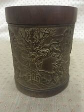 Chinese Antique Republic/Qing Period Carved Bamboo Brushpot