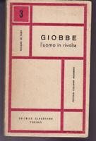 ROLAND DE PURY GIOBBE L'UOMO IN RIVOLTA CLAUDIANA 1962 RELIGIONE PROTESTANTESIMO