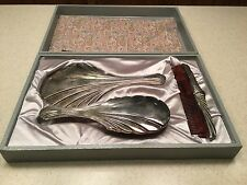 Vintage Towle Silverplate Vanity Dresser Set With Box Brush Mirror Comb