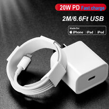 PD 20W Fast Charger USB-C to iPhone Cable Adapter For iPhone 12 11 Mini Pro Max